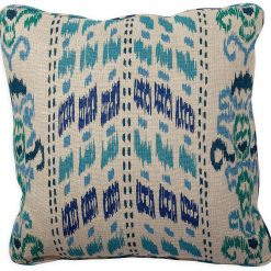 Ikat Crazy Blue Pillow