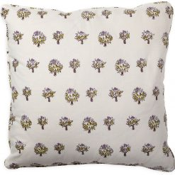 Dried Artichoke Violet Pillow