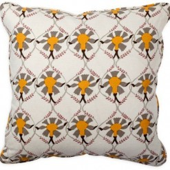 Samode Taupe Yellow pillow