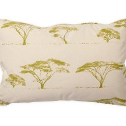 Botswana Trees Peridot Pillow