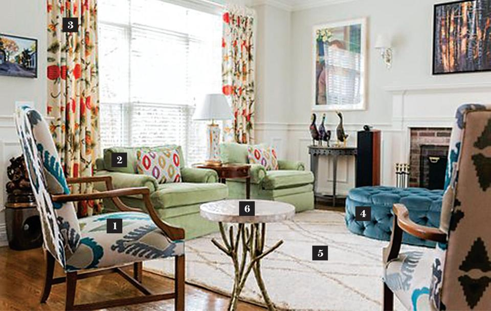 Using Art, Color, And Pattern To Update A Traditional Home